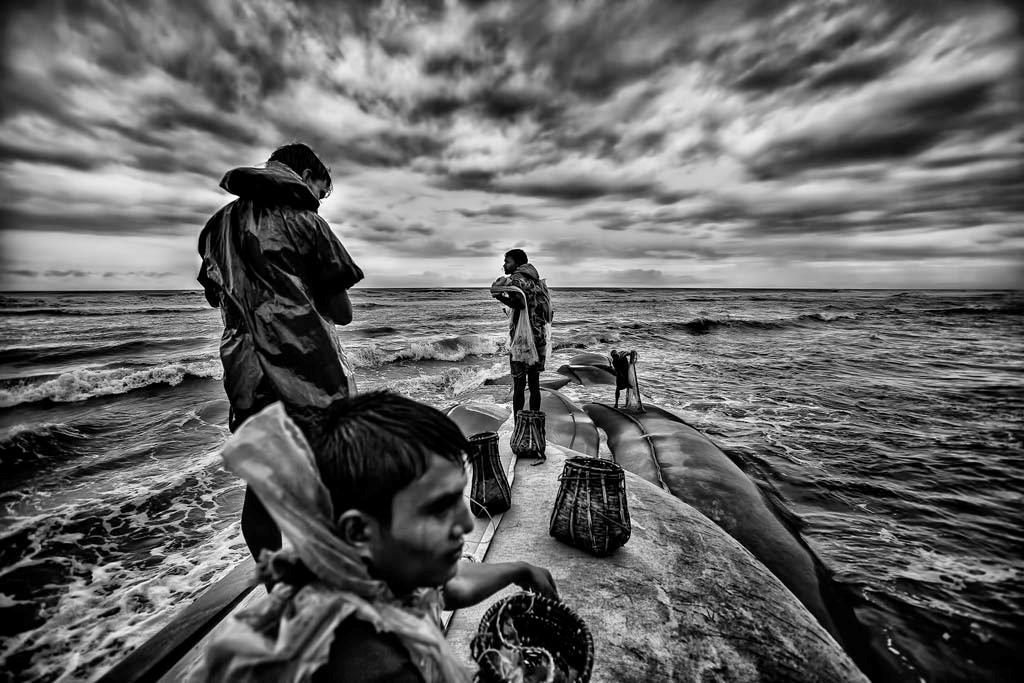 Children on sea