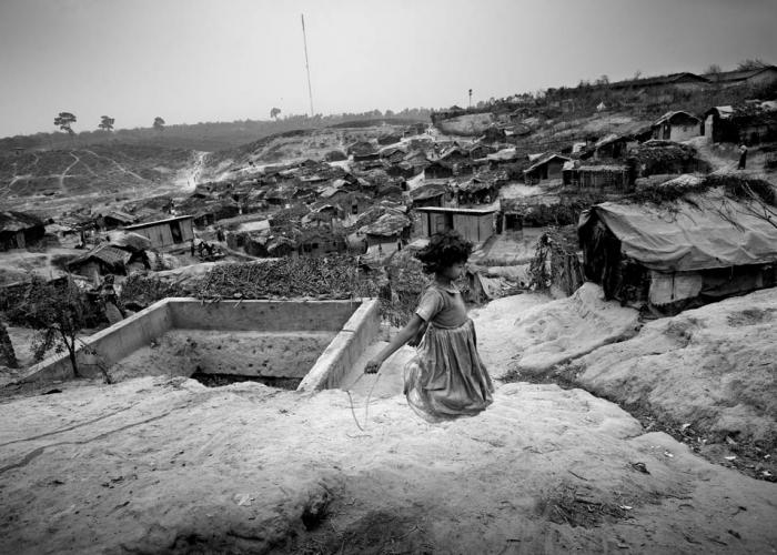 10.	Child playing in Rohingaya camp in Bangladesh © Saiful Huq Omi